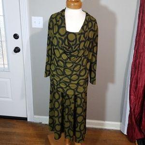 Vintage Rabbit Rabbit Rabbit Draped Dress 20W
